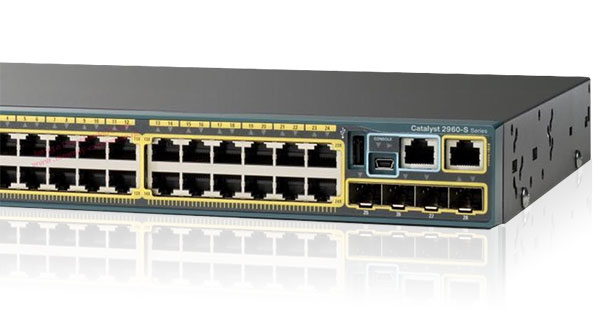 WS-C2960S-24PS-L: Cisco Catalyst 2960 24-port PoE+ Switch Module