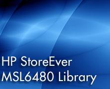 HP StoreEver MSL6480 Tape Backup Solution